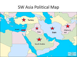 political map of israel this is our world where is sw asia here is sw asia ppt