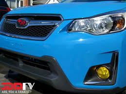 blue subaru crosstrek precut yellow fog light overlays tint 13 16 xv jdmfv by