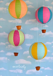 hot air balloon decorations paper lantern hot air balloons make lovely