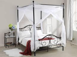 letto baldacchino letto didon 140x190 cm metallo con o senza baldacchino