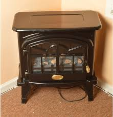 a vintage style albion black electric fireplace ebth