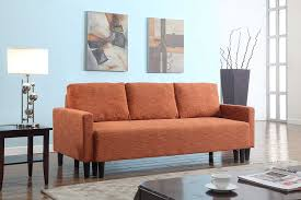 Sleeper Sofa Ratings by Amazon Com Large Rust Orange Cloth Modern Contemporary