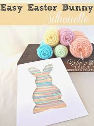 easy easter craft for toddlers bunny silhouette yarn craft
