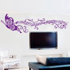 music note home decor butterfly romantic musical notes purple diy wall sticke stickers