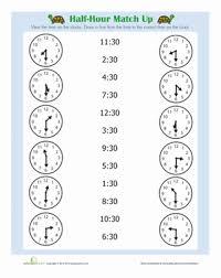 1st grade telling time worksheets worksheets