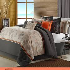 Orange Bed Sets Grey And Orange Bedding Freda Stair