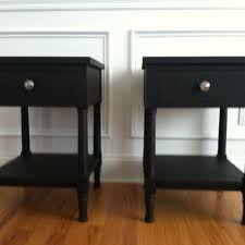 Nightstand With Shelf Made Black Nightstand With One Drawer And A Shelf By