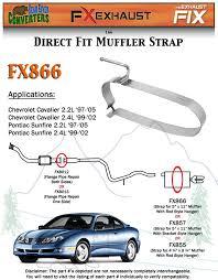 fx866 muffler strap exhaust repair goerlich style 5 u0026 034 x 11 u0026