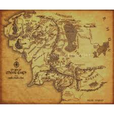 Map Middle Earth Realm Of Middle Earth Xl Ltd Edition Tilton Crafts
