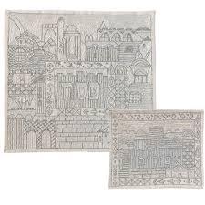 matzah cover and afikomen bag set silver threaded matzah cover afikomen bag set