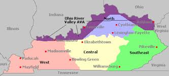 ohio river valley map map of kentucky