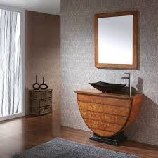 Grey Wood Bathroom Vanity Bathroom Vanity Top Ideas Bowl Shape White Ceramic Sink Brown