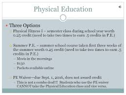 online pe class high school audio included 9 th grade typical schedule granville high school