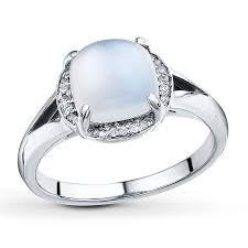 kay jewelers class rings sterlingjewelers moonstone ring 1 20 ct tw diamonds sterling silver