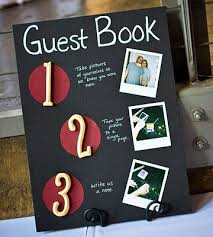wedding guest book photo album real weddings an artistic fall wedding silver pen reception