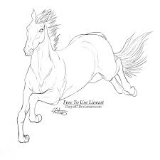 free lineart steeplechaser by darya87 deviantart com on