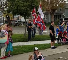 Image Of Confederate Flag Confederate Flags Shock Viewers At Petaluma Veterans Day Parade