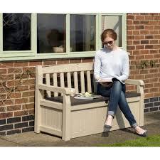 Garden Storage Bench Uk Bench Plastic Garden Benches Uk Suncast Litre Plastic Storage