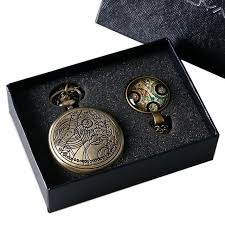 necklace gift box images Time lord pocket watch and necklace gift box trendy gear jpg