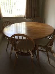 vintage ercol windsor dining room set circular drop leaf table