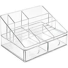 clear acrylic desk organizer amazon com interdesign linus desk organizer with drawers clear