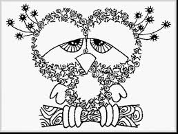 beautiful printable coloring pages with owl coloring pages