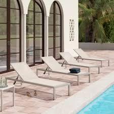 Mesh Pool Chairs Grey Outdoor Lounge Chairs You U0027ll Love Wayfair