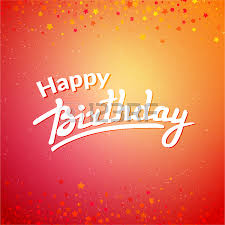 happy birthday greeting card template on background with colorful