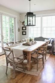 modern dining table centerpiece varnished teak wood table set some