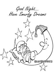 sleepy smurf coloring bluebuddies