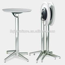 High Top Folding Table Fashion Modern Outdoor Folded Abs Top Brushed Aluminum High