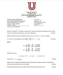 Program Paper Question Paper Template In Latex Tex Latex Stack Exchange