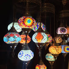 Large Moroccan Chandelier Large 7 Lamps Chandelier Mosaic Lanterns Turkish Mosaic Lamps