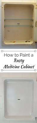 can you paint a metal medicine cabinet how to paint a medicine cabinet diy bathroom home