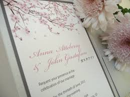 cherry blossom wedding invitations copper ink wedding designs wedding design and other