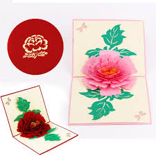Valentine Flowers 3d Pop Up Birthday Thanksgiving Greeting Cards Valentine Flowers
