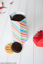 diy cookie box gift printable oh my creative