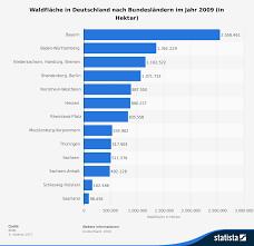bundesländer nach fläche waldfläche in deutschland nach bundesländern 2009 statistik