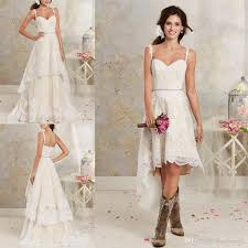 cheap wedding dresses high low short bridal dresses and floor