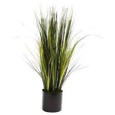 18 in artificial bamboo plant in pot with river stones hd222717 p