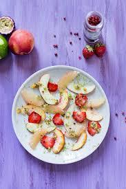 recette cuisine été recette de carpaccio de fruits d été au poivre stella cuisine
