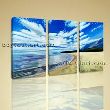 Bedroom Wall Canvases Canvas Prints Contemporary Landscape Beach Gallery Wrapped Wall