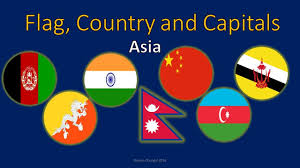 Asia Map With Capitals by World Flags Quiz Flags And Capital Asia Youtube