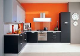 endearing minimalist kitchen with black and white cabinets also