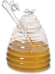 honeypot wedding registry glass honey pot with dipper honey bees honey