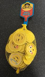 new bag of emoji chocolate coins x25 party bag fillers