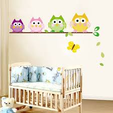 popular butterfly baby decor buy cheap butterfly baby decor lots 4 colorful owls butterfly kids nursery decals wall sticker decor vinyl art diy cute cartoon wall