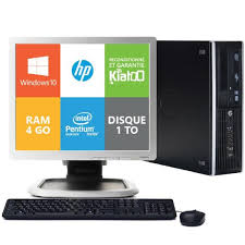 photo d un ordinateur de bureau ordinateur de bureau hp elite 8200 dual 4go ram 1to disque dur