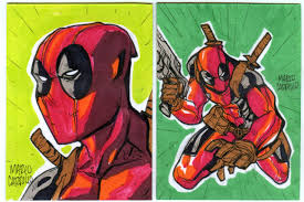 deadpool sketch cards by mdavidct on deviantart