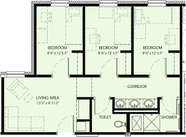 Floor Plan For Residential House Pricing And Floor Plan University Commons University Housing